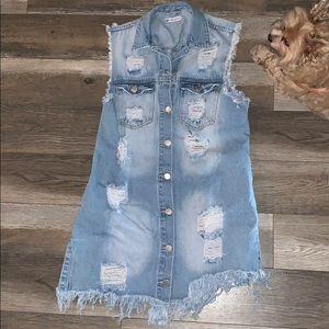 NEW American Bazi Denim dress no tags
